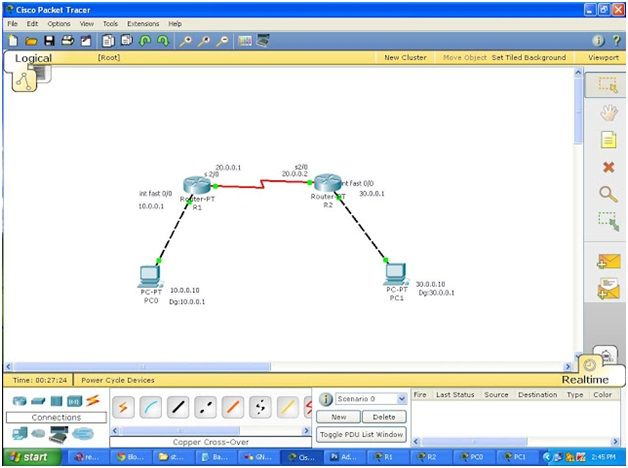 How to Configure a Simple Static Routing in Packet Tracer