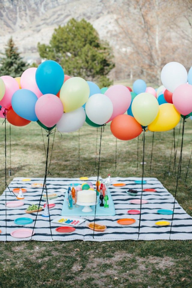 Balloons and books baby shower