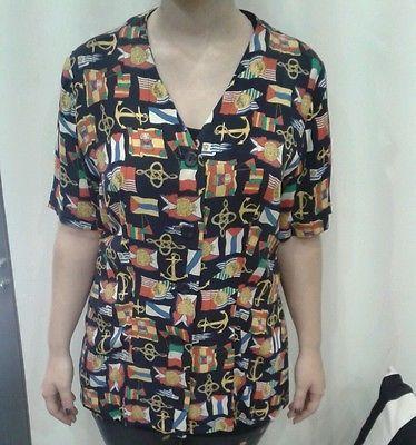 camicia-vintage-originale-anni-80-tg-m-L-stile-marinaio-donna