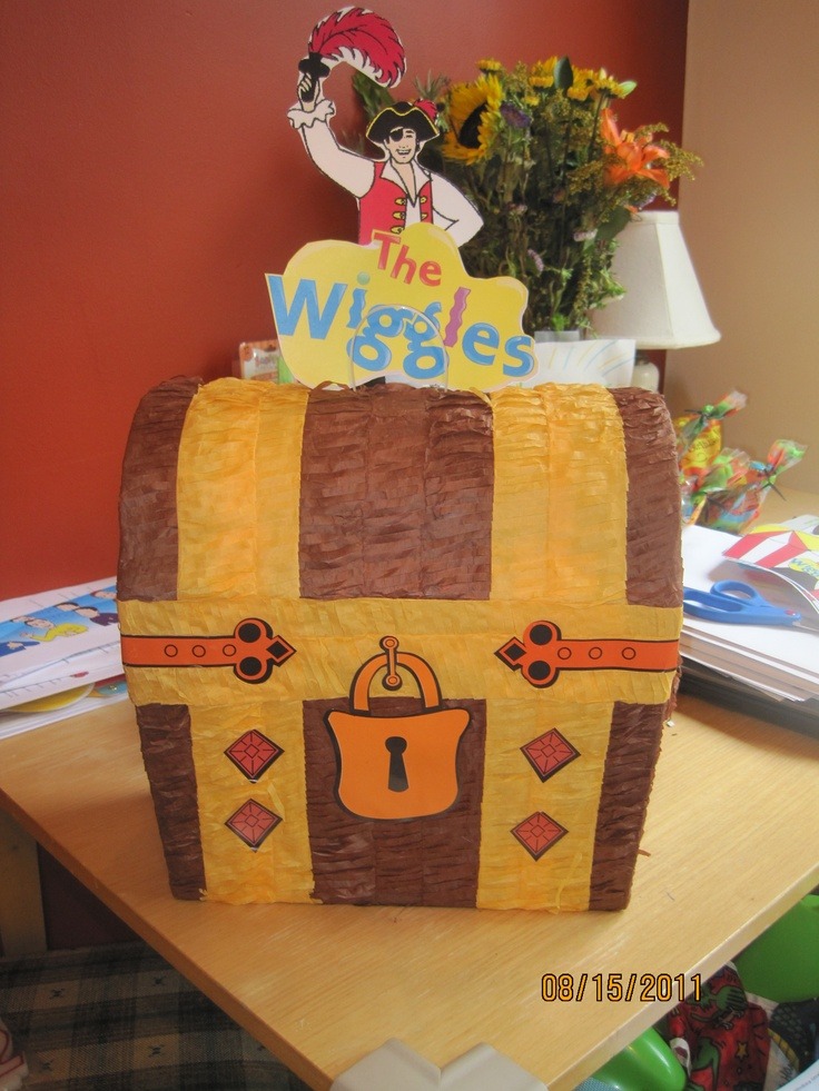 The Wiggles Birthday Party Piñata: Party Fair find and a good printer helped pull this off.