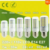 New W W SMD LED Corn Light LED Bulb E E LED Lamp V V