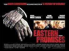 EASTERN PROMISES, directed by David Cronenberg and starring Viggo Mortensen. Released in 2007. #CronenbergEvolution