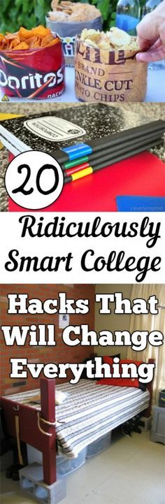 20 Ridiculously Smart College Hacks That Will Change Everything. Tips, tricks, hacks, college, campus life, college hacks.