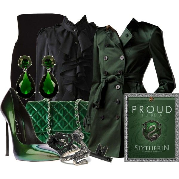 """""""Slytherin House"""" by missm26 on Polyvore. Not a serious Slytherin fan but love the colors."""