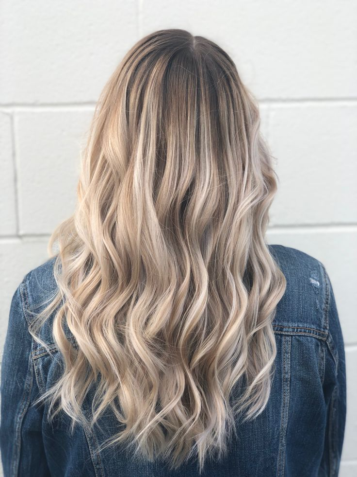 Champagne Blonde Balayage Hair Hairstyle Style Blonde