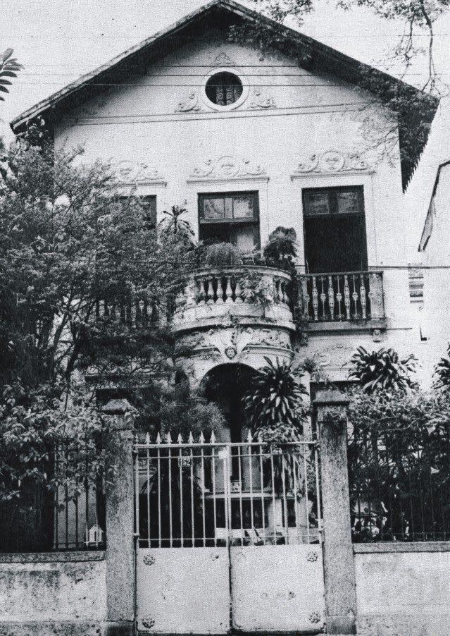Casa do escritor Machado de Assis e de sua esposa, Carolina, na Rua Cosme Velho nº 18, (demolido)