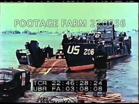 d day landings footage