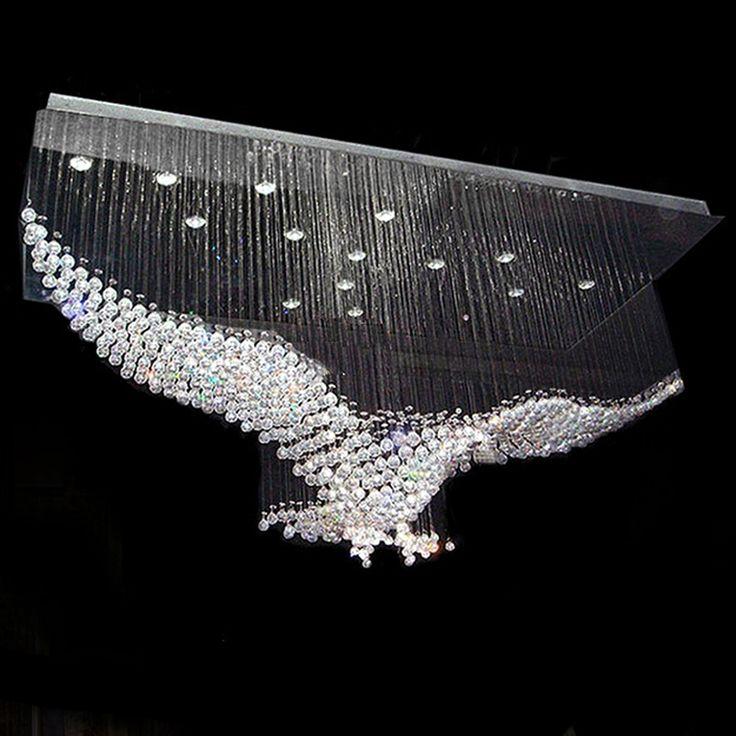 Crystal Eagle Contemporary Chandelier