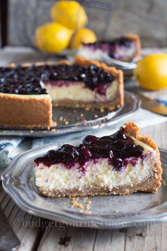 Creamy Lemon Blueberry Cheesecake !