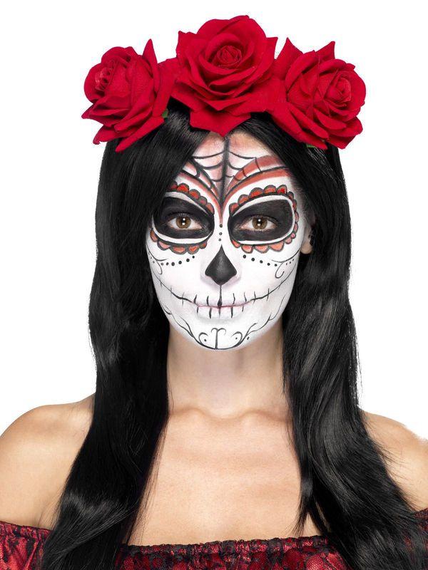 Tag der Toten Haarband Rosen rot