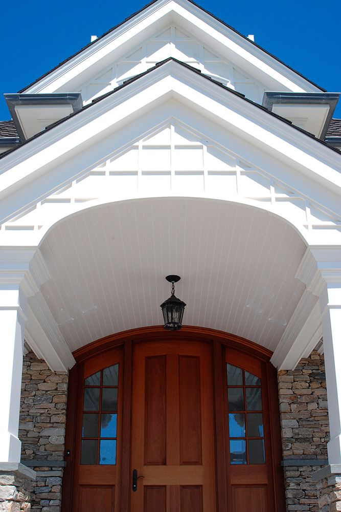 Looking for a curb appeal facelift?  Transform the look of your home or entryway today with AZEK Trim and Moulding.  Available in white, AZEK Trim and Moulding profiles give this entrance a grand appeal with timeless elegance. To improve your exterior details – from trim, deck and pavers – AZEK has the design tools to bring your visions to life.