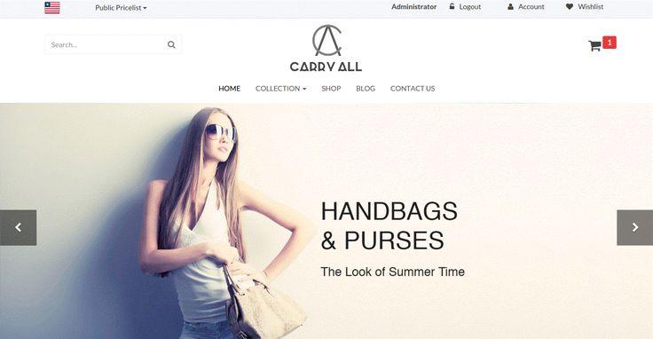 CarryALL HandBags & Purses Theme for Odoo v9 Ecommerce