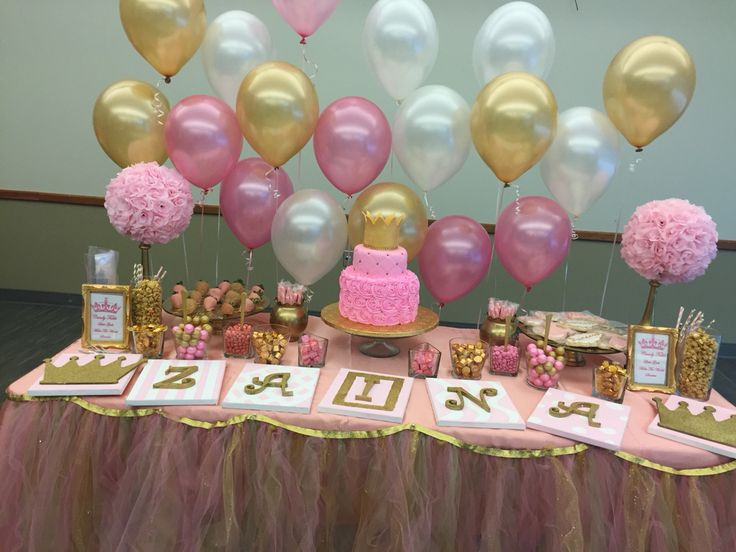 Pink And Gold Princess Baby Shower Candy Table My