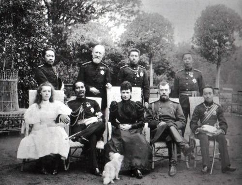 """ohsoromanov: """"Koning Chulalongkorn (van Siam) in Rusland met tsaar Nicolaas II, 1897."""""""