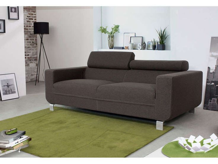 Promo canap conforama achat canap fixe 3 places conforlib coloris anthraci - Conforama canape 3 places ...