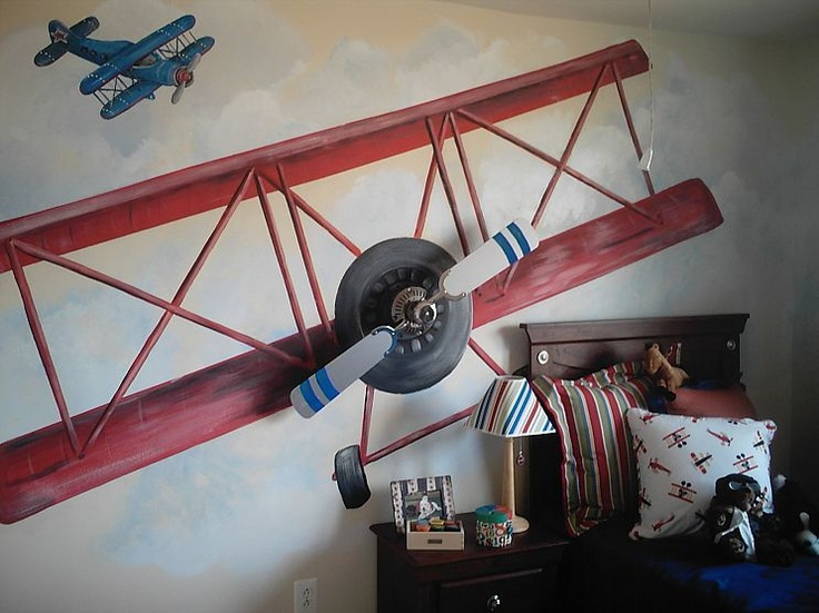 maybe not so beachy but love the airplane with ceiling fan blades!