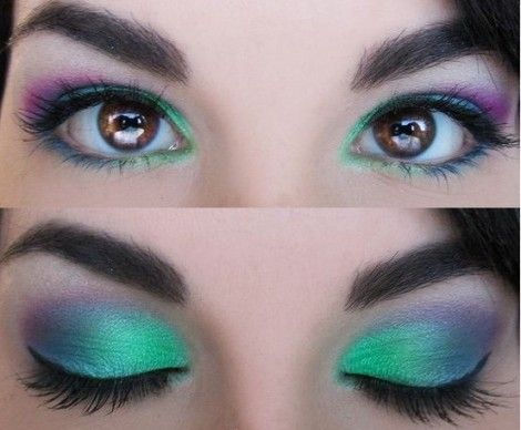 Idee trucco occhi make up occhi verdi azzurri e marroni