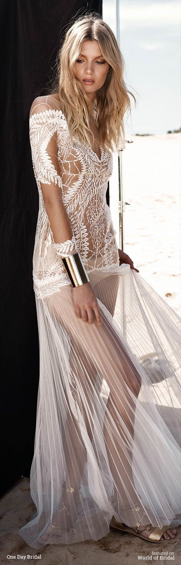 600 best Half Sheer Wedding Gowns for the Daring Bride images on ...