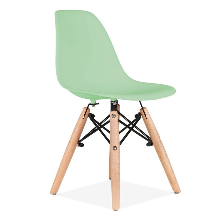 Iconic Designs Kids Soft Green DSW Chair