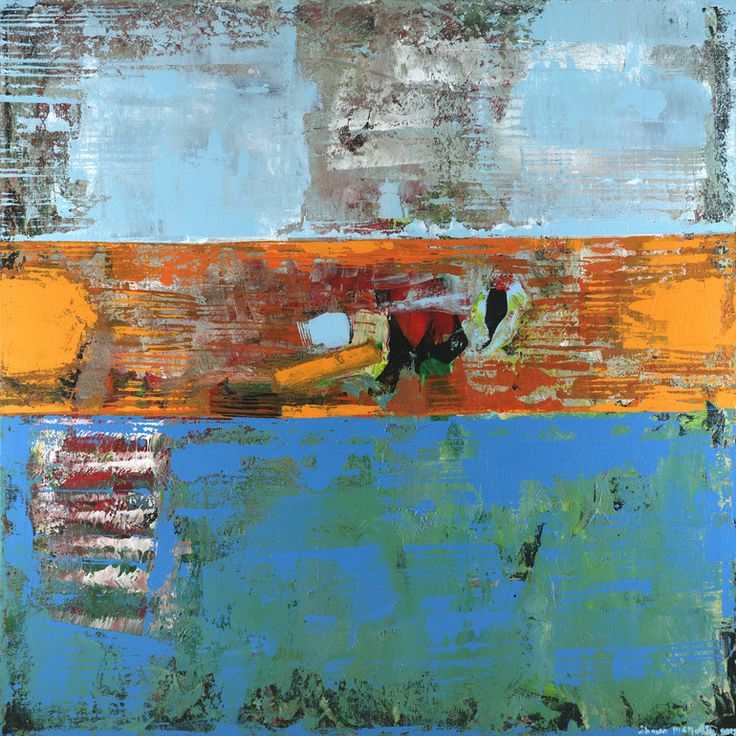 "Saatchi Art Artist: Shawn Mcnulty; Acrylic 2012 Painting ""Alligator - Abstract Art Blue Orange SOLD"""