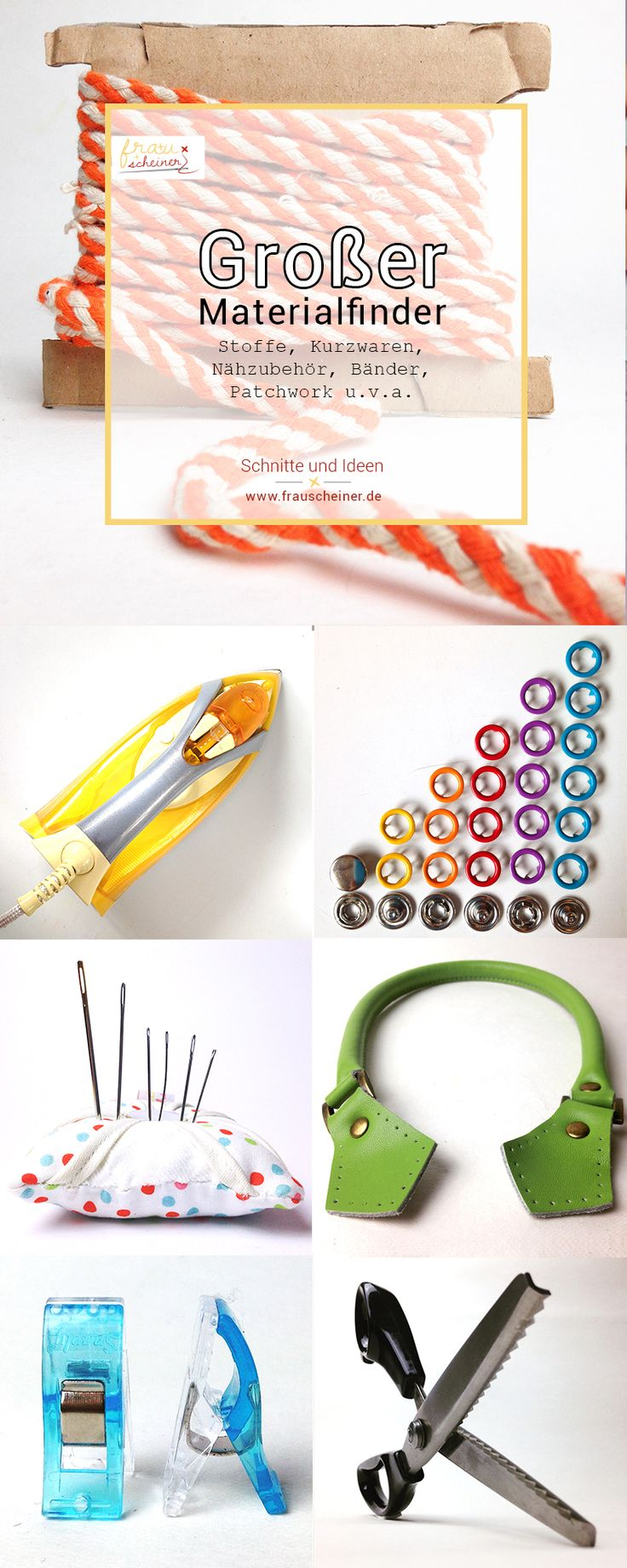 Großer Materialfinder für Stoffen, Kurzwaren, Nähzubehör, Bänder, Scheren, Druckknöpfe, Kordeln, Nadeln, Nähmaschine, Vlieselineund viele mehr für Dein nächstes Nähprojekt, nähen, Schnittmuster