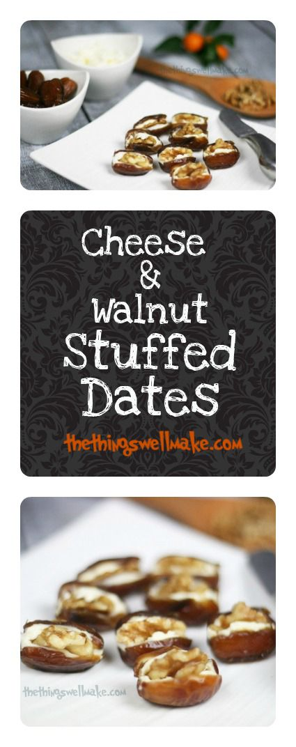 Who said simple can't be elegant? These easy quick walnut cheese stuffed dates are perfect for last minute entertaining.