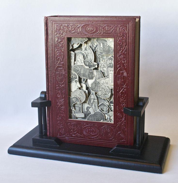 New Century Dictionary a - pocket veto - Tony Dagradi hardcover book, acrylic varnish