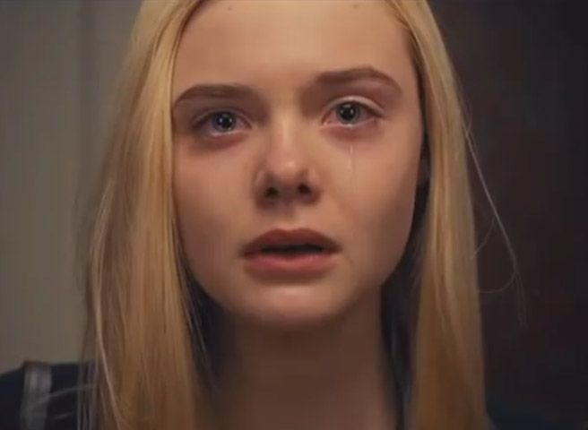 "This brand-new 8-minute film shows a teenage girl's reaction as she walks into a ""real"" party full of people/sets who look and behave like fashion/beauty advertising images. *TRIGGER Warning: disturbing images. //  ""Elle Fanning Film about Body Image Is Hard to Watch"""