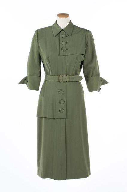 Day dress, Mona Dobri Original, 1940-46.