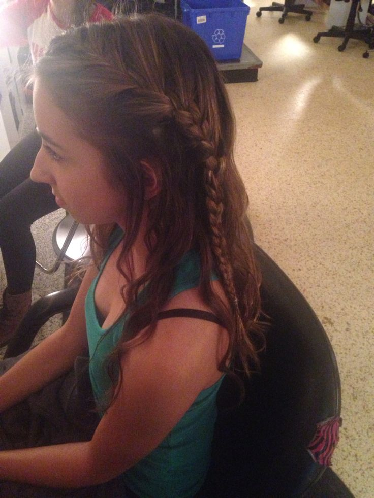 Little French braid with some curls!