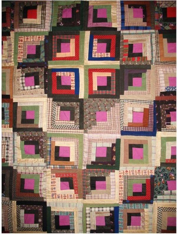 Log Cabin, Barn Raising detail, c 1880. Laura Fisher Quilts ... : laura fisher quilts - Adamdwight.com