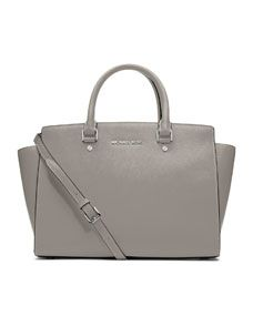 MICHAEL Michael Kors  Large Selma Top-Zip Satchel $358 in Pearl Grey. Love this for fall my new fav mk color
