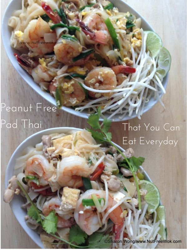 Peanut Free Pad Thai That You Can Eat Everyday by Nut Free Wok. Nut free stir fry recipe at www.nutfreewok.com