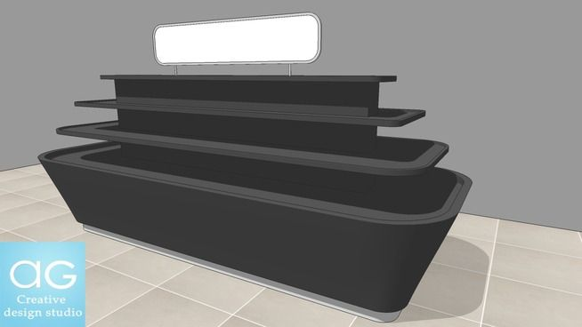 Large preview of 3D Model of Cosmetic Fixture Display 3D model- Retail design_#2