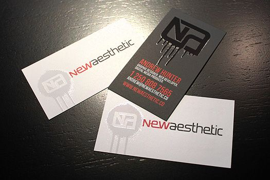 Black modern Newaesthetic business cards samples, created with ...