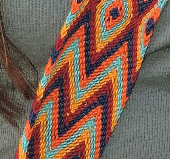 Large Chila Wayuu Bag 11x 12. 5 in 20.5 strap by TataWayuu