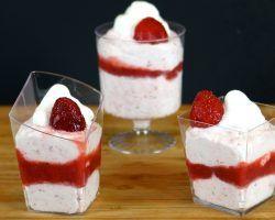 How to make a low calorie strawberry mousse parfait