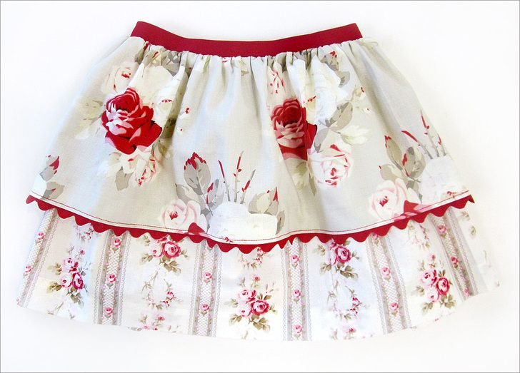 "Little Girl Twirly Skirts with New Dritz Fashion Elastic | Sew4Home. Super soft on both sides of the waist -- no ""it's too scratchy"" complaints :)"