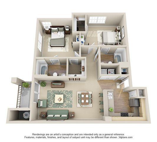 Littleton Apartments: 11 Best 3d Floor Plans For Apartments Images On Pinterest