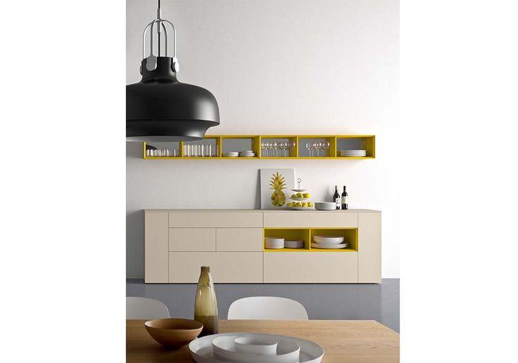 credenza per cucina, mobile sospeso per cucina, mobile sospeso per soggiorno, mobili contenitori zona living
