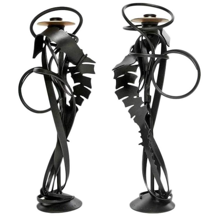 Buy Albert Paley Double Shear Candleholders, 2014 by Highland Park - Limited Edition designer Accessories from Dering Hall's collection of Contemporary Mid-Century / Modern Transitional Organic Candles & Candleholders.