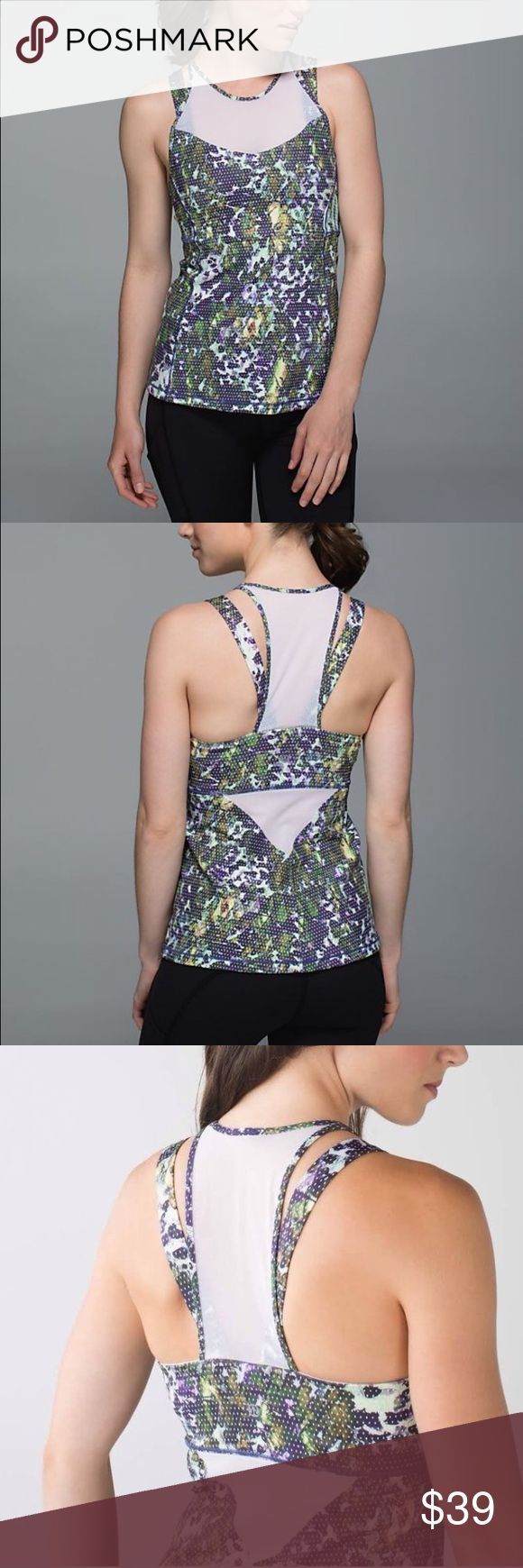 NWT Lululemon running in the city athletic tank Lululemon running in the city tank. Size 2 and size 4 available. Floral sport white multi / white color. Built in bra lululemon athletica Tops Tank Tops
