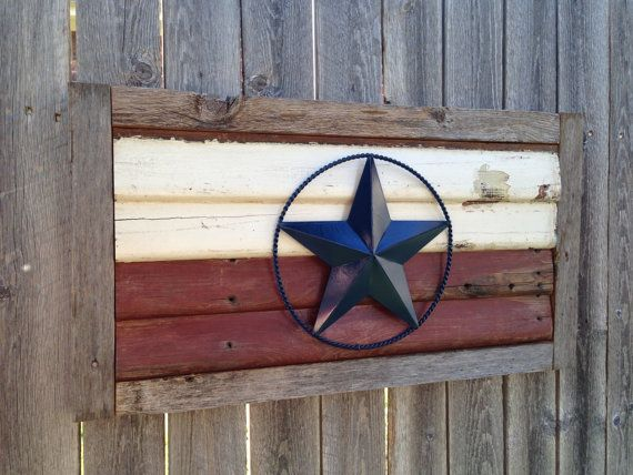 Salvaged Wood With Rustic Texas Star by JustMeandMom on Etsy