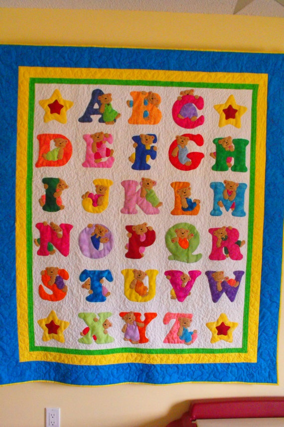 Applique Quilt Applique Pinterest Alphabet Quilt