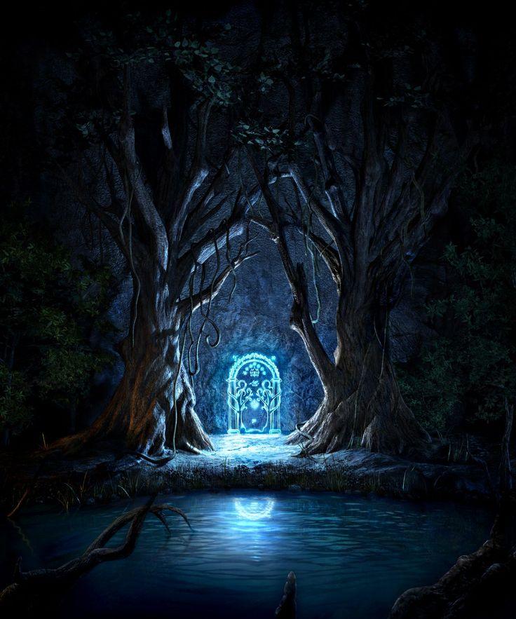 """The door to Moria. """"Speak, friend, and enter."""""""