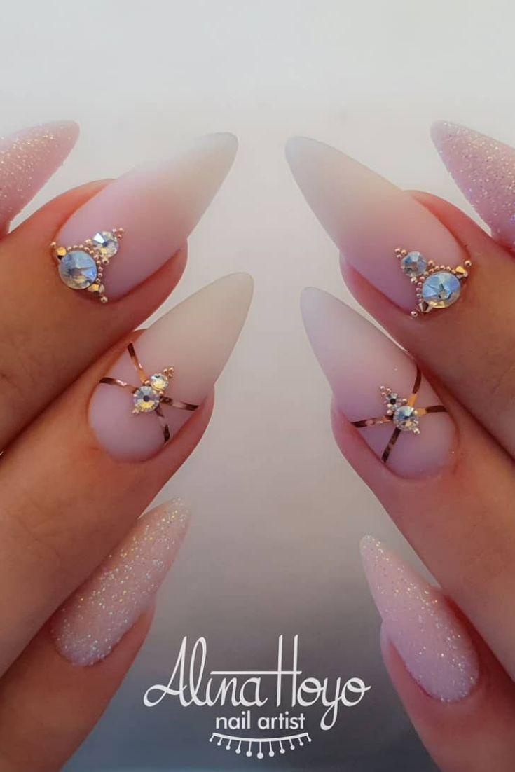 50 Pretty Nail Art Design Easy 2019 Konnen Sie Als Anfanger Versuchen Pretty Nail Art Designs Pretty Nail Art Nails Design With Rhinestones