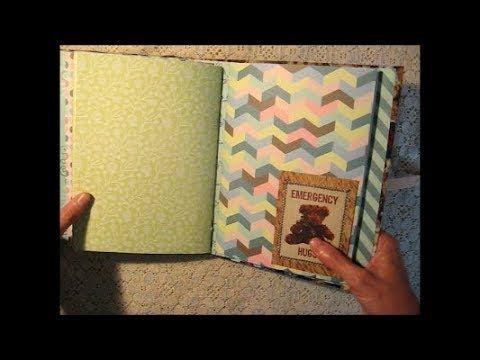 Handmade Teddy Bear Themed Journal / Scrapbook Mini Album