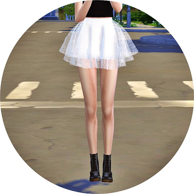 Voluminous ballerina mini skirt v1 at Marigold via Sims 4 Updates