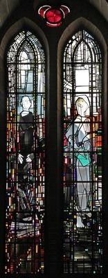 Georg Meistermann   Köln, Kath. Kirche St. Gereon.Die zwölf Apostel: St. Philippus und St. Mattäus.  Georg Meistermann, 1984