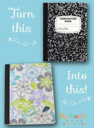DIY Journal Out of Composition Notebook - Rachael's BookNook with measurements
